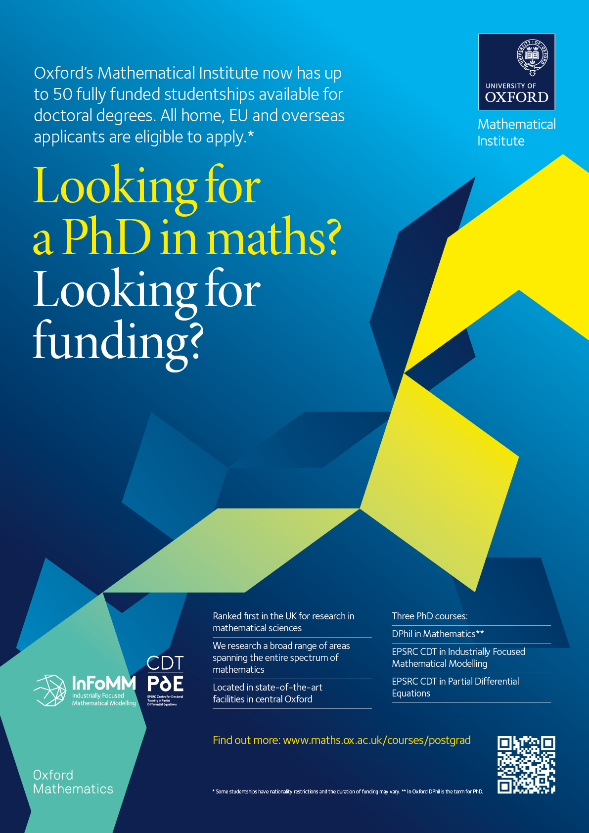 Looking For A Phd In Mathematics And Some Funding