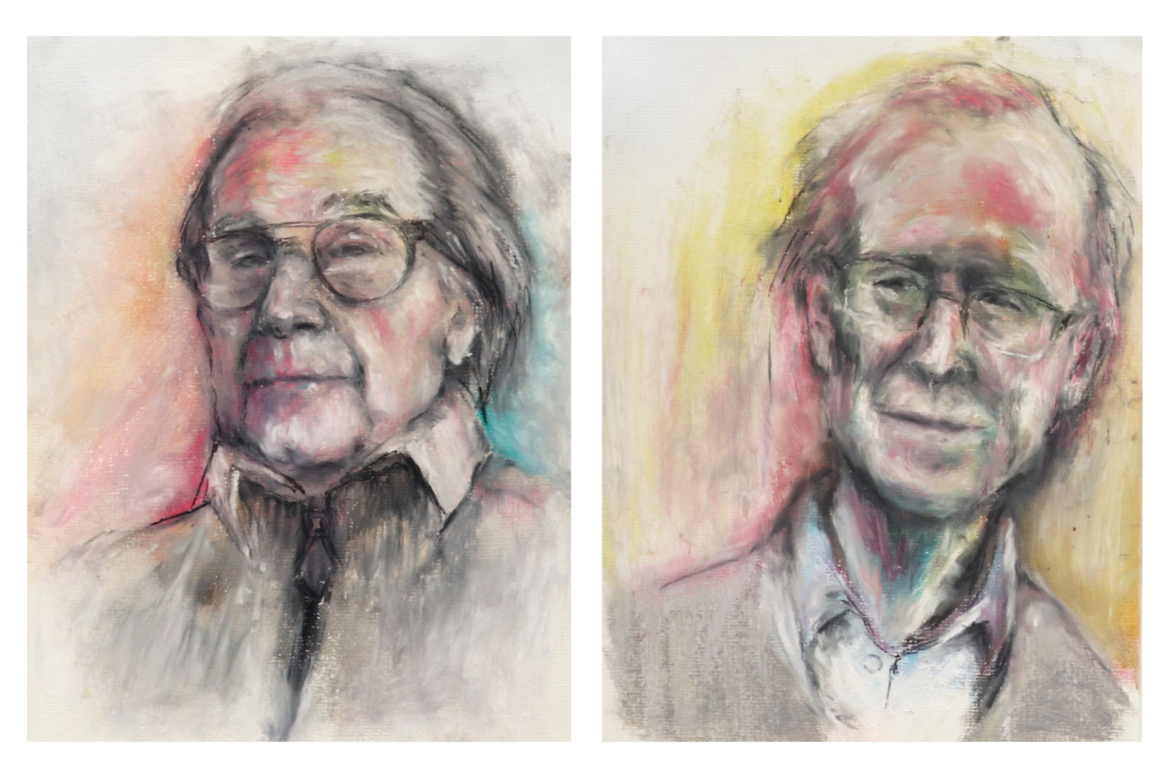 Sketches of Roger Penrose and Andrew Wiles