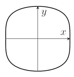 A sort of rounded square shape