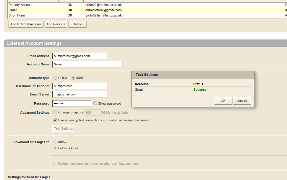 Exporting your Zimbra account to Gmail | Mathematical Institute